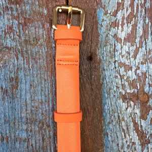 Boden Orange Leather Belt